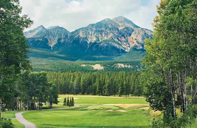 Golf course near The Fairmont Jasper Park Lodge.