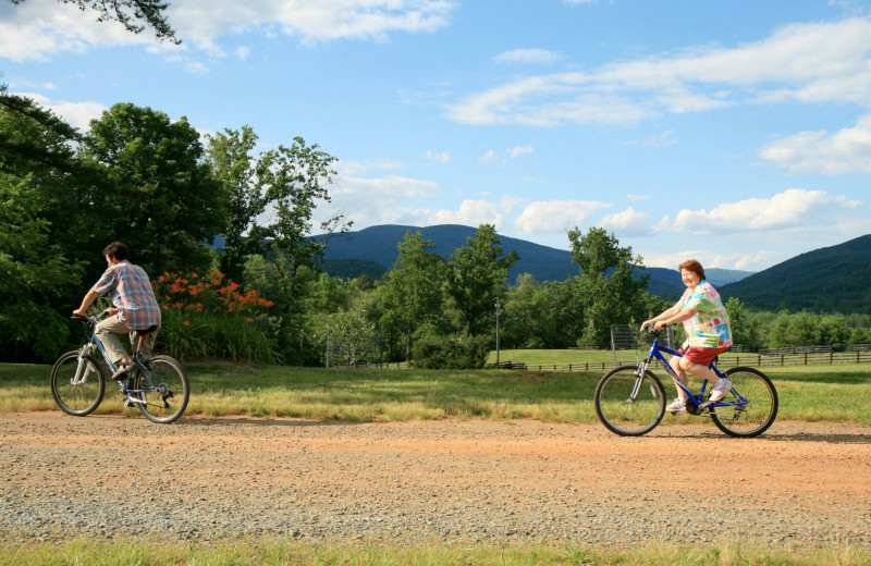 Bikes are free for guest use at Montfair Resort Farm, which lays along a heavily-used bike route.