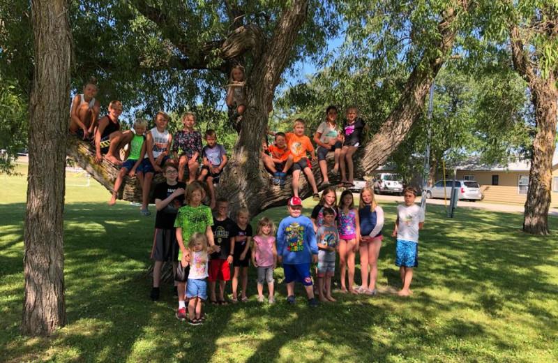 Kids group at Betsy Ross Resort.