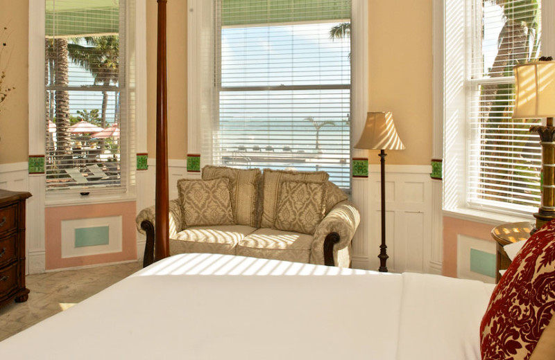 Guest room at The Southernmost House.