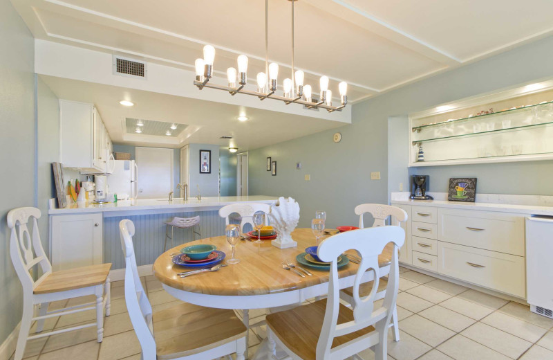 Rental kitche at Padre Island Rentals.