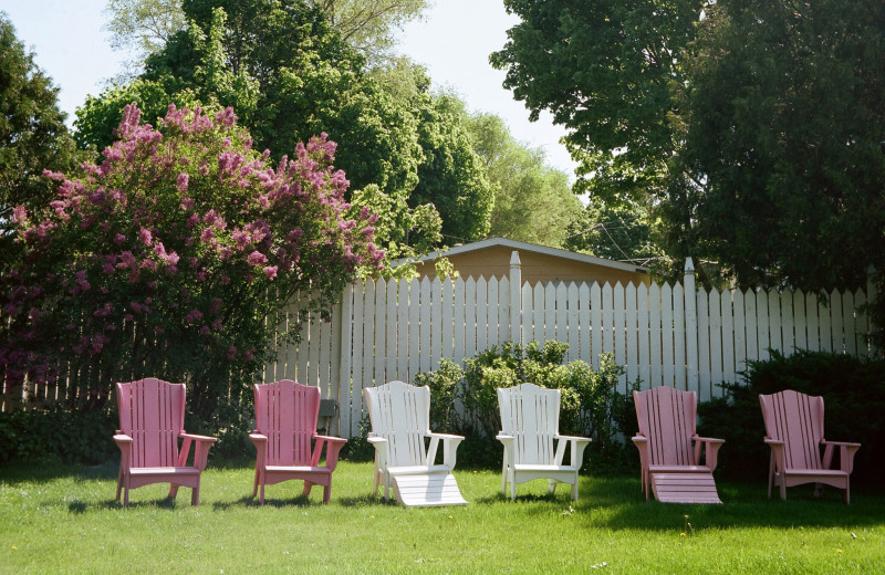 Lawn chairs at White Lace Inn.