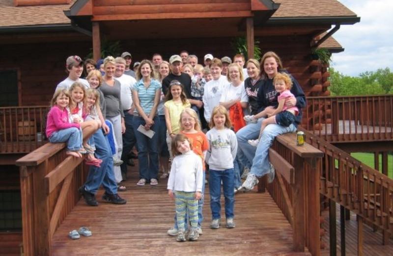 Family reunion at Harpole's Heartland Lodge.