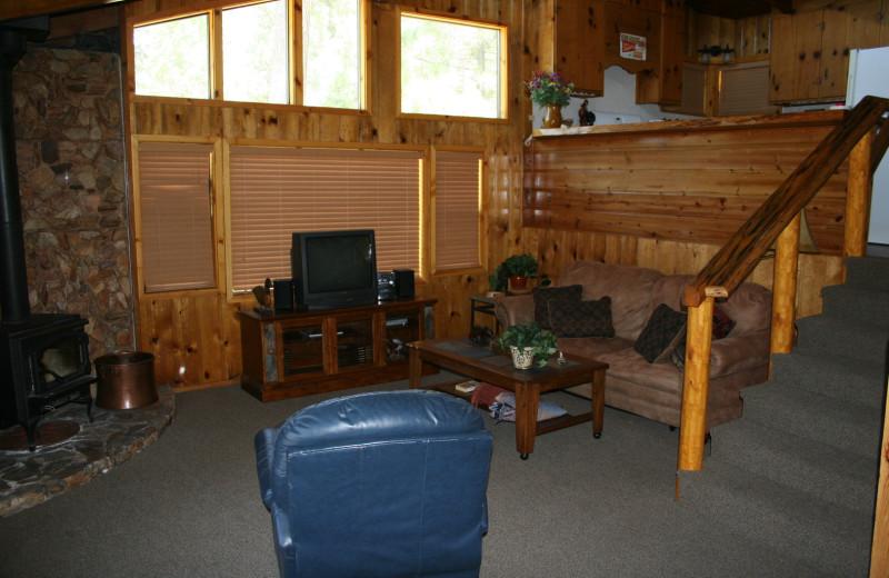 Cabin interior at Honey Bear Lodge & Cabins.