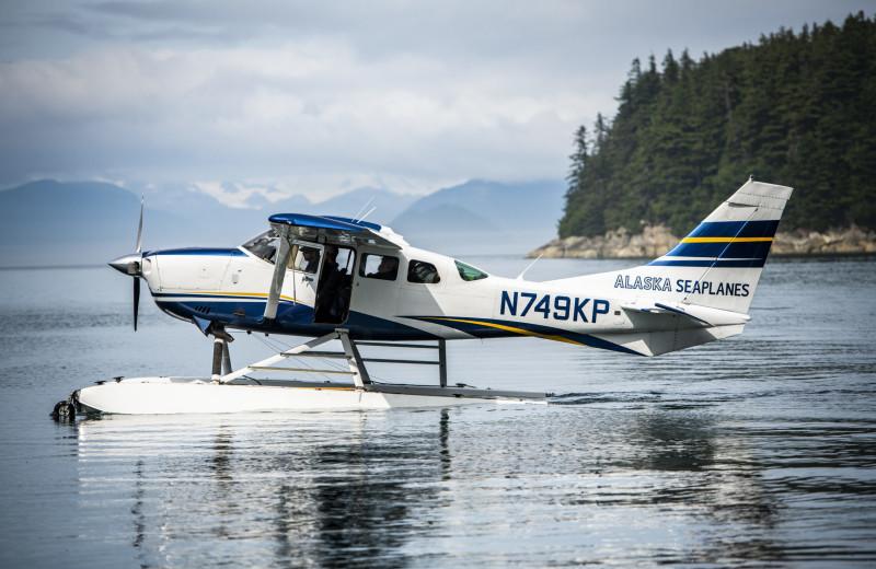 Boat plane at Elfin Cove Resort.