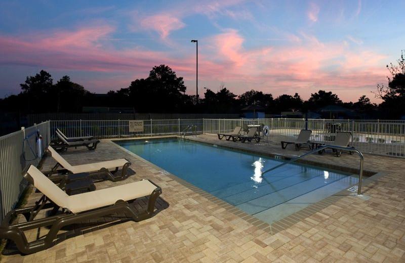 Outdoor pool at Hampton Inn & Suites Panama City Beach-Pier Park Area.