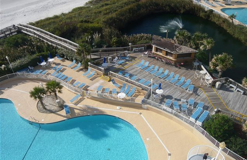 Vacation rental pools at Myrtle Beach Vacation Rentals.