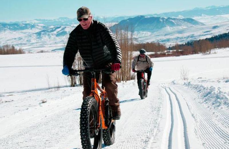 Fat tire biking at Latigo Ranch