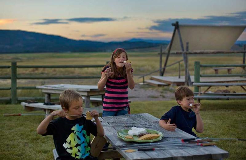 Kids at The Resort at Paws Up.