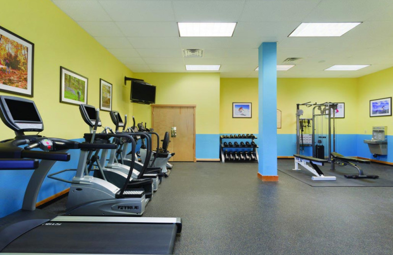 Fitness room at Grand Timber Lodge.