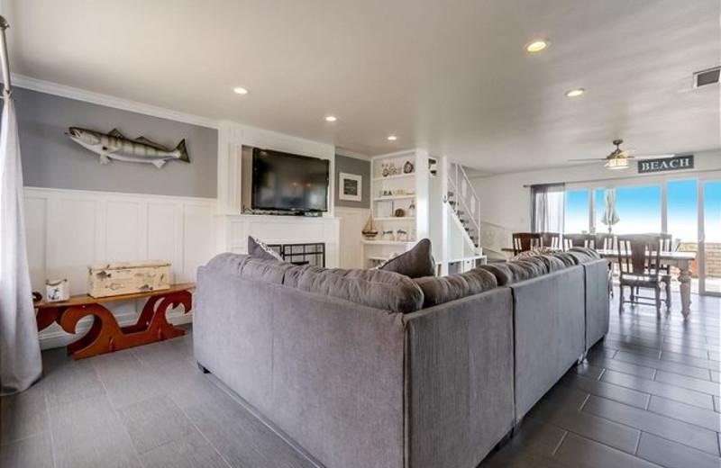 Rental living room at Capistrano Realty.