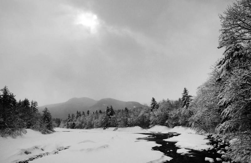 Scenic view at Attitash Mountain Village Resort.