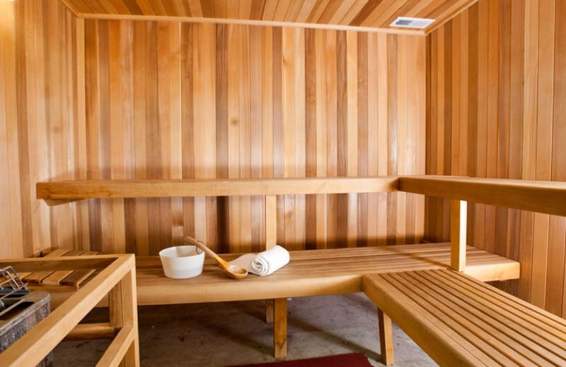 Sauna at Lake Eve Resort.