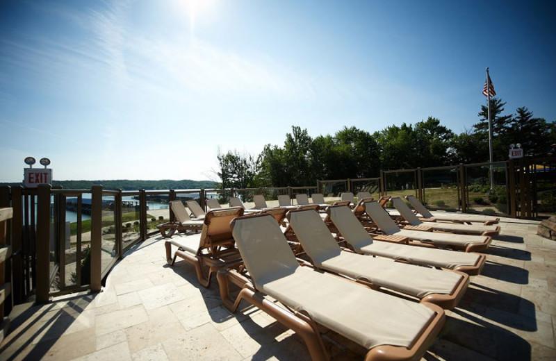 Pool chairs at Fourwinds Resort & Marina.