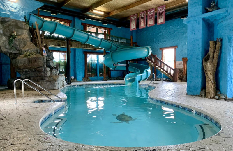 Indoor pool at Riverchase Lodge.