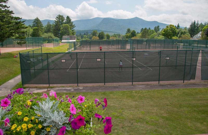 Tennis court at Black Bear Lodge.