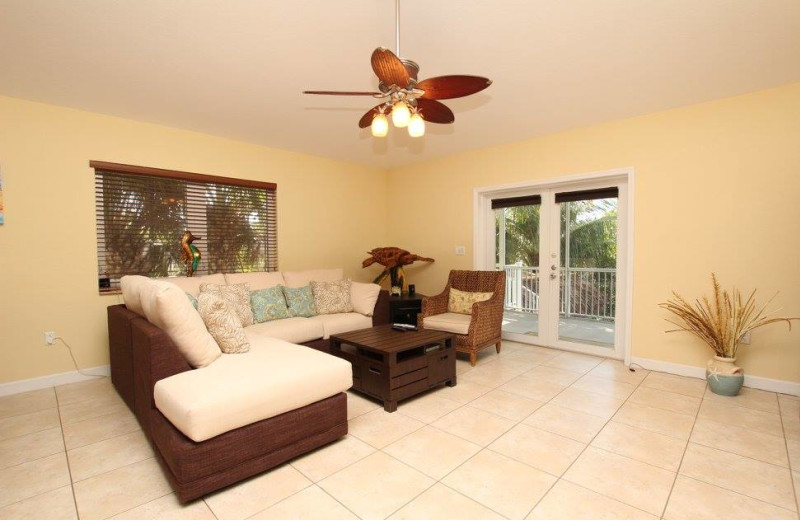 Rental living room at Keys Holiday Rentals, Inc.