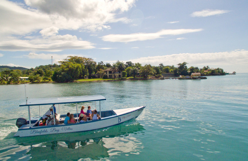 Boat rides at Bluefields Bay Villas.