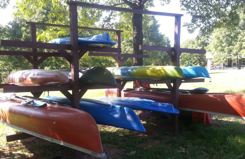 Canoes at Mustang RV Ranch.