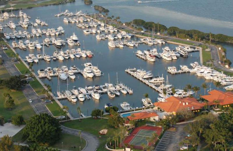 Aerial Marina View at Longboat Key Club