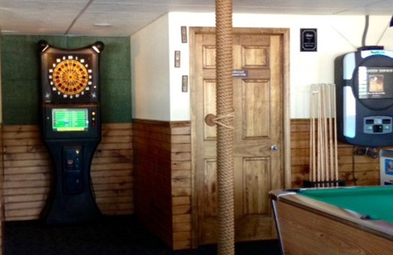 Game room at Alhonna Resort.