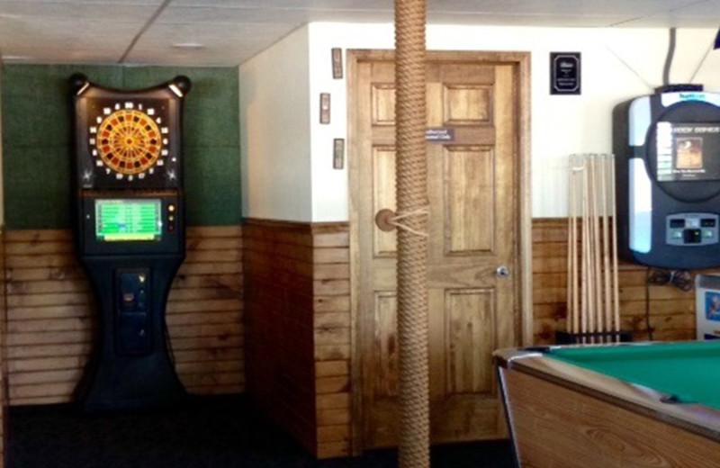 Game room at Alhonna Resort.