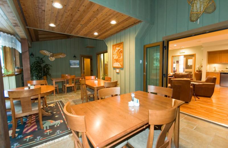 Lobby at Alpine Chalet Whistler Inn.