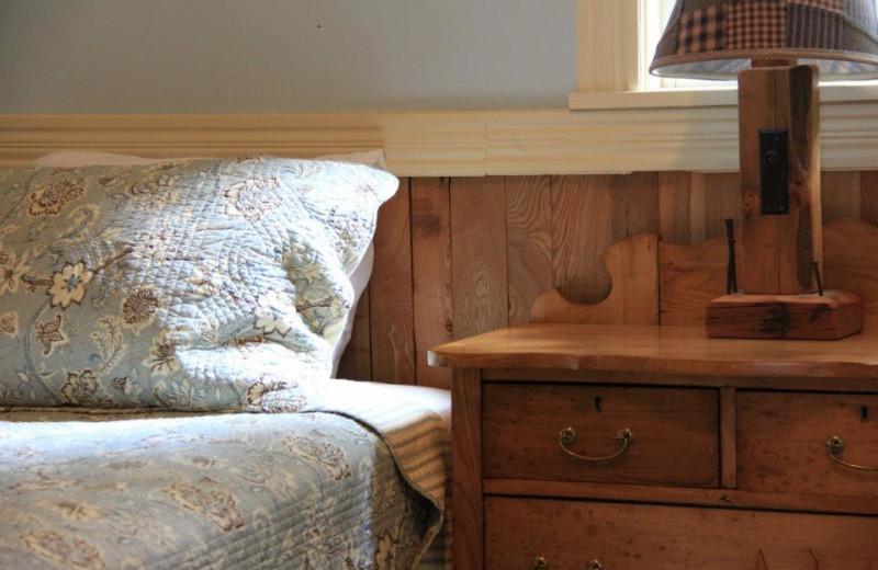 Cabin bedroom at Bartlett Lodge.