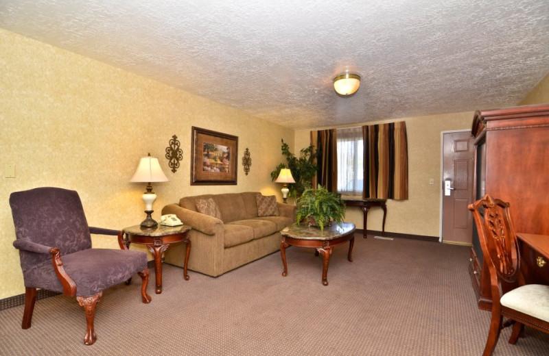 Spacious living area at Abbey Inn
