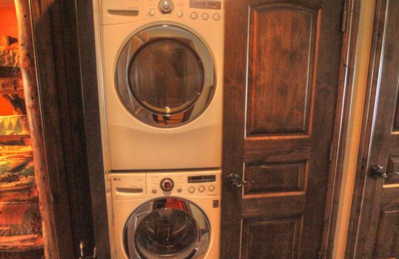 Vacation rental washer dryer at SkyRun Vacation Rentals - Vail, Colorado.