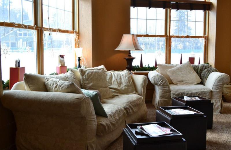 Spa lounge at Giants Ridge Golf and Ski Resort.