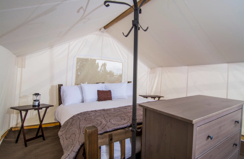 Tent bedroom at Grand Canyon Under Canvas.