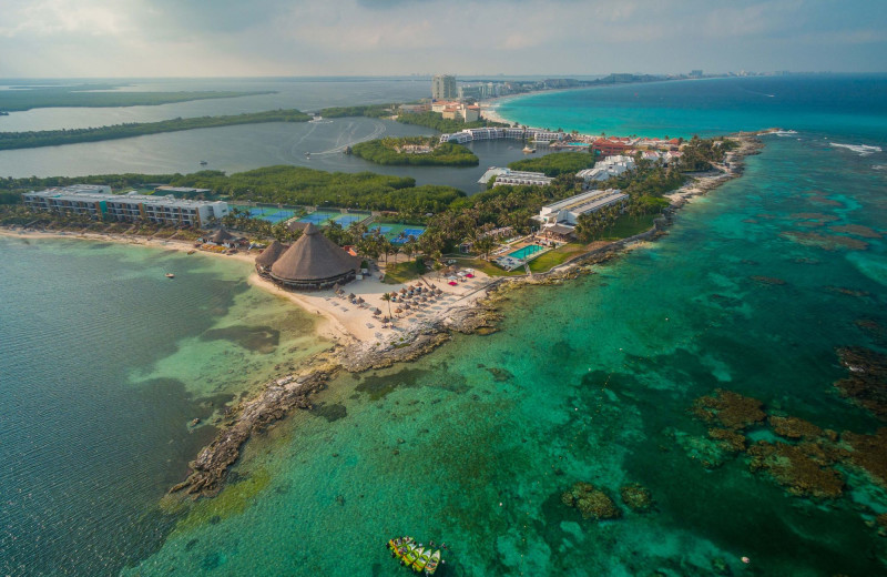 Exterior view of Club Med Cancun.