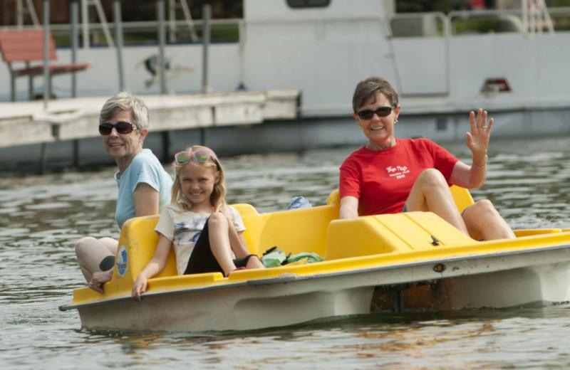 Paddle boat at Fair Hills Resort.