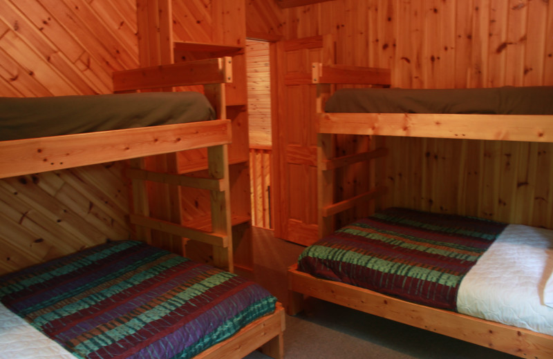 Bunk beds at Lakecrest Resort.