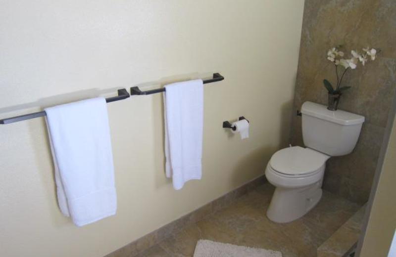 Guest bathroom at Maui Kamaole.