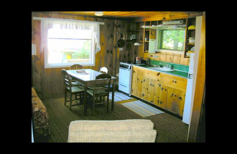 Cabin kitchen at Eagle Wing Resort.