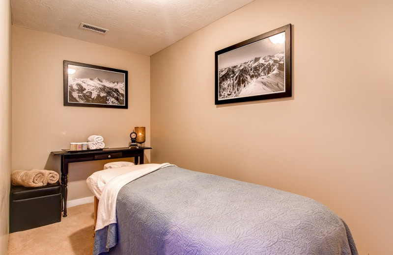 Massage therapy at Snowpine Lodge.