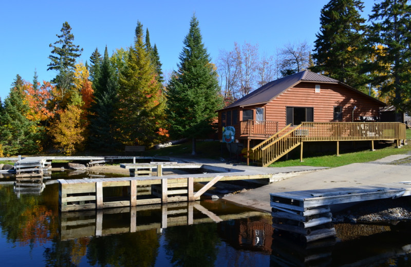 Resort exterior at Kabetogama Lake Association.