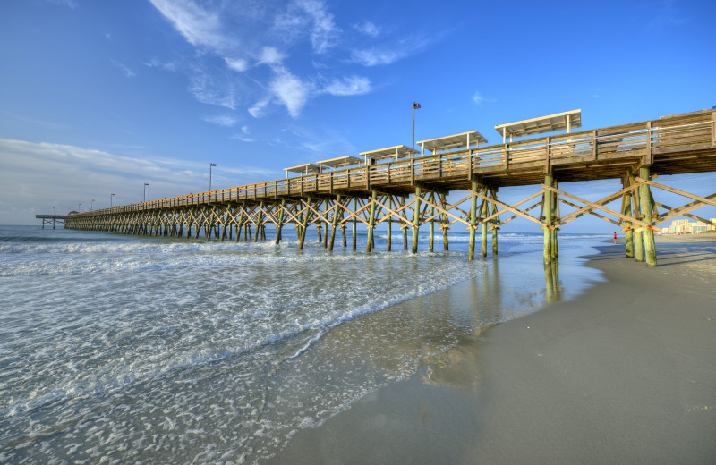 Fishing pier near The Strand Resort Myrtle Beach.