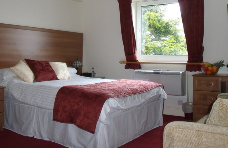 Guest room at Porth Veor Manor.