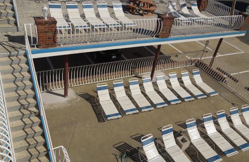 Sun chairs at Diamond Crest Motel.