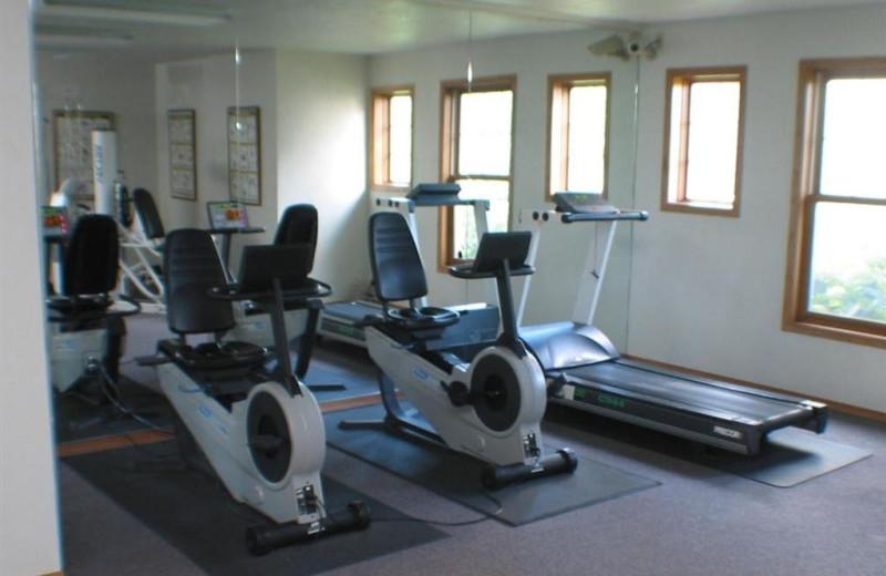 Fitness room at Newport Resort.