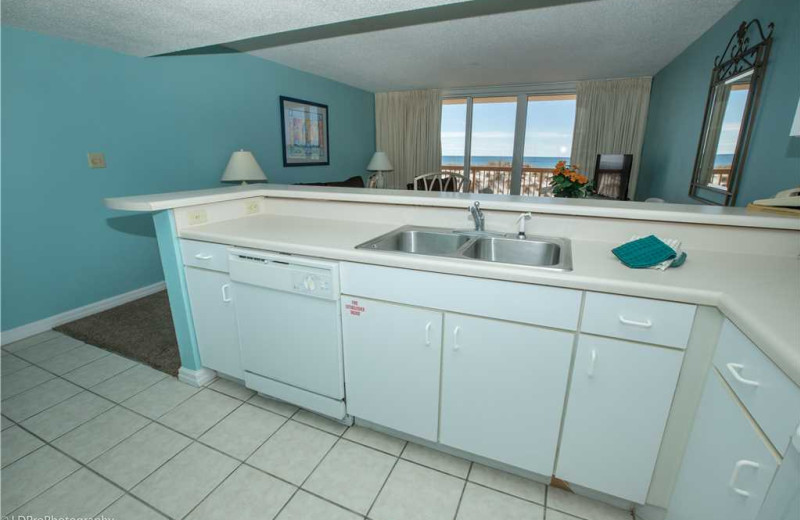 Kitchen at Holiday Isle Properties - Pelican Beach 110.