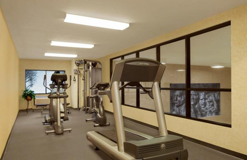 Fitness room at Rushmore Express Inn & Family Suites.