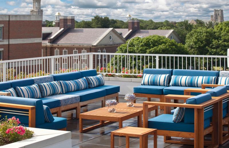 Patio view at Hotel Lumen - a Kimpton Hotel.