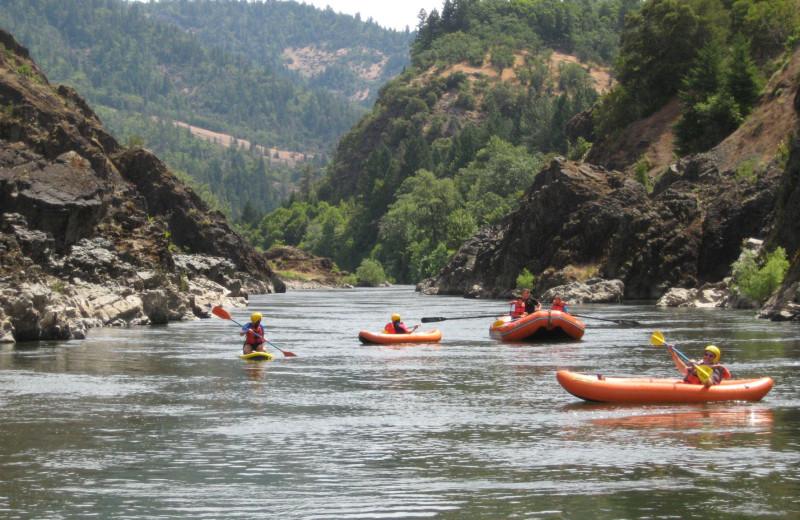 Kayaking at Morrison's Rogue River Lodge.