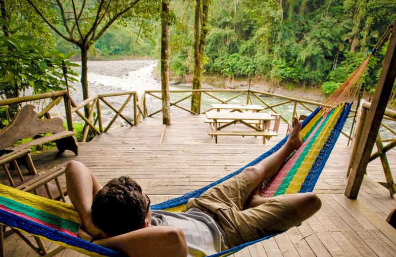 Relaxing at Rios Tropicales.