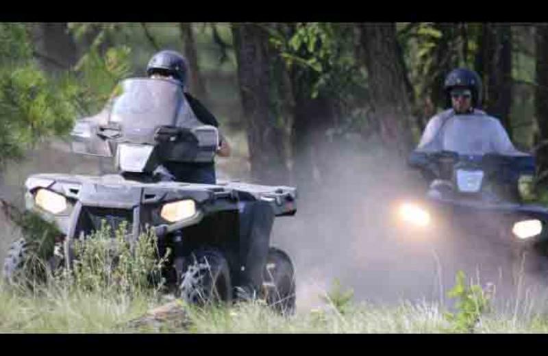 ATV riding at YD Guest Ranch.
