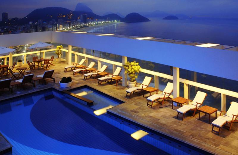 Outdoor pool at Rio Othon Palace.